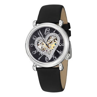 Stuhrling Original Woman's Aphrodite Delight Automatic Leather Strap Watch