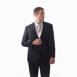 Pronto Men's Slim Fit 'Wool Max' Black Wool Blend 2-piece Suit