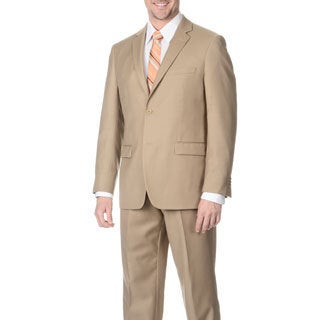 Pronto Men's Slim Fit 'Wool Max' Tan Wool Blend 2-piece Suit