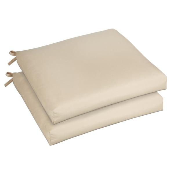 bristol 19 inch indoor outdoor antique beige chair cushion set with