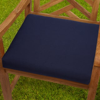 Beau Bristol 19 Inch Indoor/ Outdoor Navy Blue Chair Cushion Set With Sunbrella  Fabric