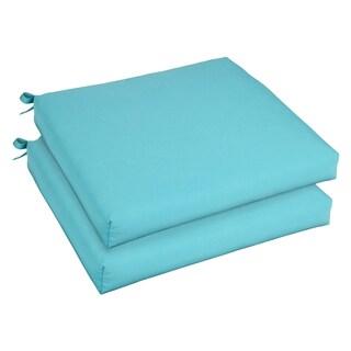 Bristol 19-inch Indoor/ Outdoor Aruba Blue Chair Cushion Set with Sunbrella Fabric