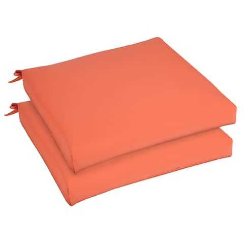 Bristol 19-inch Indoor/ Outdoor Melon Chair Cushion Set with Sunbrella Fabric
