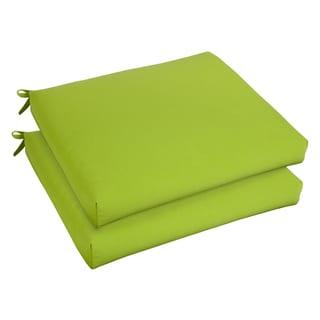 Bristol 19-inch Indoor/ Outdoor Macaw Green Chair Cushion Set with Sunbrella Fabric