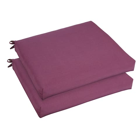 Bristol 19-inch Indoor/ Outdoor Iris Chair Cushion Set with Sunbrella Fabric