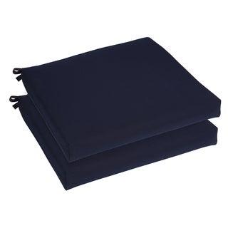 Bristol 20-inch Indoor/ Outdoor Navy Blue Chair Cushion Set with Sunbrella Fabric