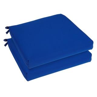 Bristol 20-inch Indoor/ Outdoor True Blue Chair Cushion Set with Sunbrella Fabric