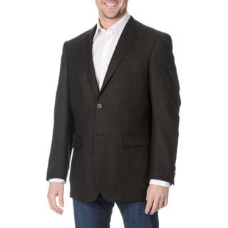 Prontomoda Italia Men's Black Wool Jacket