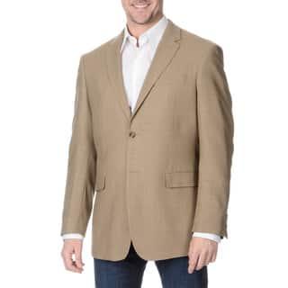 Prontomoda Italia Men's Tan Wool Jacket|https://ak1.ostkcdn.com/images/products/9027532/Prontomoda-Italia-Mens-Super-140-Tan-Natural-Stretch-Wool-Jacket-P16227686.jpg?impolicy=medium