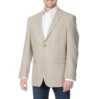 Prontomoda Italia Men's 'Super 140' Stone Natural Stretch Wool Jacket