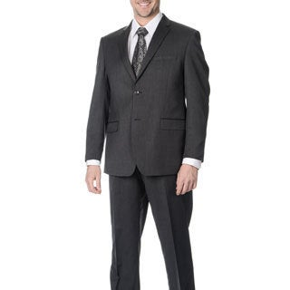 Martino Men's Slim Fit Wool Rich Charcoal Wool Blend Suit
