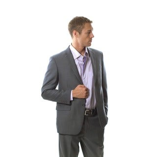 Martino Men's Slim Fit Wool Rich Grey Wool Blend Suit
