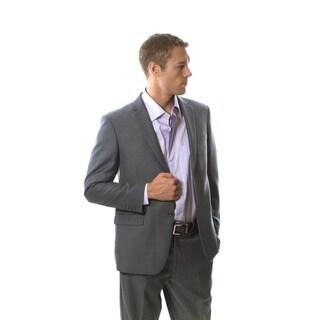 Martino Men's Slim Fit Wool Rich Grey Wool Blend Suit
