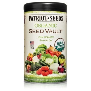 Organic Seed Vault 100 Heirloom Non-GMO Seeds - 21 Variety Pack