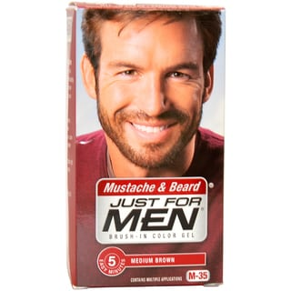 Just For Men Mustache and Beard Medium Brown Brush-in Color Gel Kit (Pack of 3)