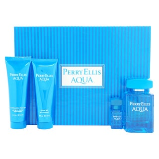 Perry Ellis Aqua Men's 4-piece Gift Set
