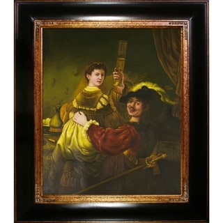 Rembrandt 'and Saskia in the Parable of the Prodigal Son ' Hand Painted Framed Canvas Art
