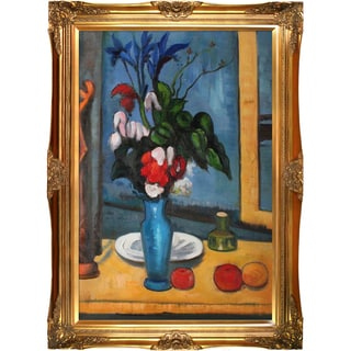 Paul Cezanne 'Le Vase Bleu ' Hand Painted Framed Canvas Art