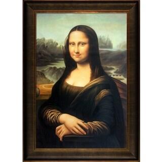 Leonardo da Vinci 'Mona Lisa ' Hand Painted Framed Canvas Art