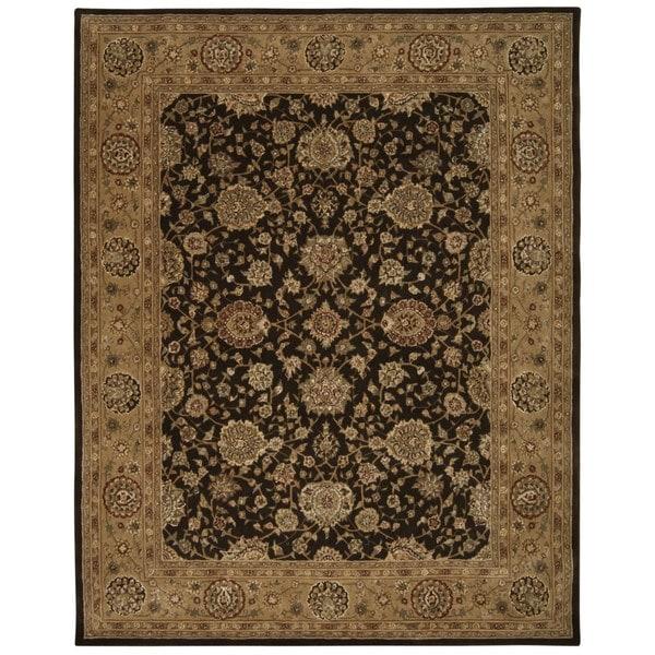 Nourison 2000 Chocolate Brown Wool Area Rug - 7'9 x 9'9