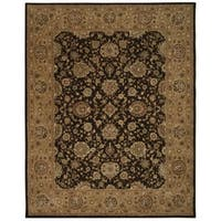 Nourison 2000 Chocolate Brown Wool Area Rug - 7'9 x 9'9