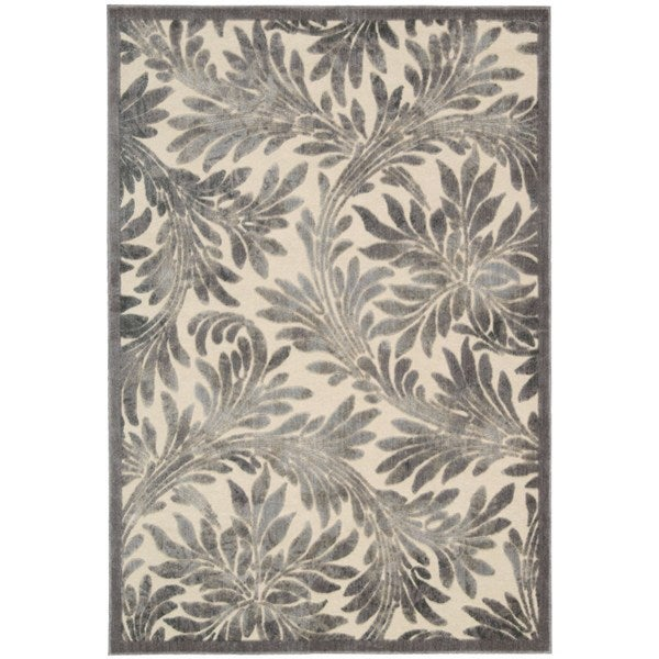 Nourison Graphic Illusions Ivory/ Silver Rug