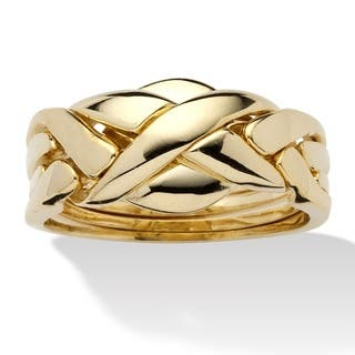 Tailored Interwoven Puzzle Ring|https://ak1.ostkcdn.com/images/products/9027874/Toscana-Collection-Gold-Overlay-Puzzle-Band-Ring-P16228030.jpg?impolicy=medium