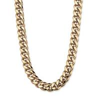 Men's Curb Link Chain in Yellow Gold Tone