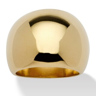 18k Gold Overlay Dome Ring
