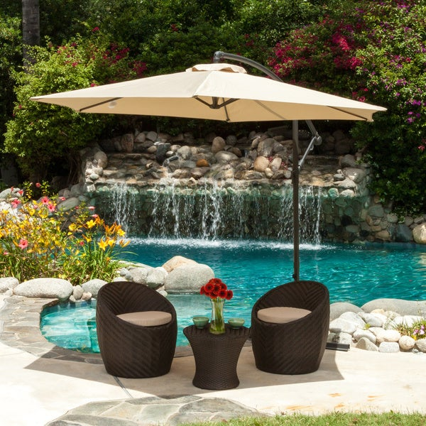 Patio Umbrella Flying Away: Monterey Banana Sun Canopy By Christopher Knight Home
