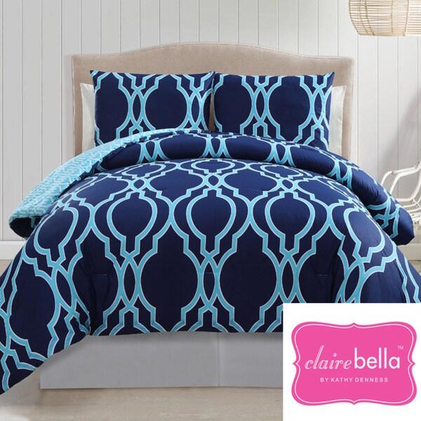 VCNY Clairebella Cotton Reversible 3-piece Comforter Set
