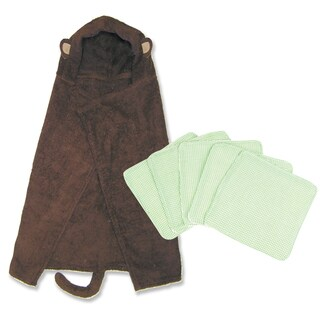 Trend Lab Northwood S Hooded Towel And Wash Cloth 6 Piece