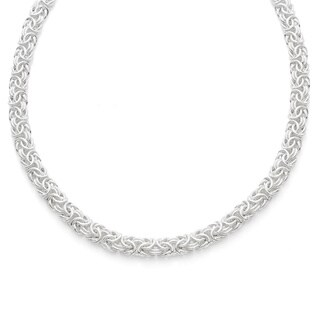 Gioelli Sterling Silver Byzantine Necklace