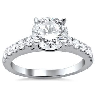 Noori 18k White Gold Enhanced 1 1/4ct TDW Round Diamond Engagement Ring