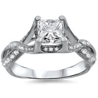 Noori 18k White Gold 1 1/10ct TDW Princess-cut Diamond Engagement Ring