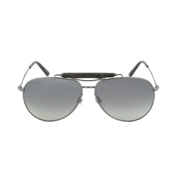 Gucci Men's 'GG 2235/S KJ1LG' Metal Aviator Sunglasses