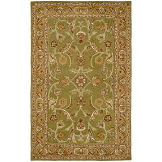 Paragon Sage/ Light Green Wool Rug (3'6 x 5'6)