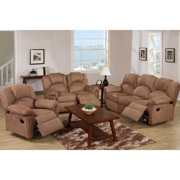 Kladno 3 piece motion recliner living room set free for 6 piece living room furniture sets