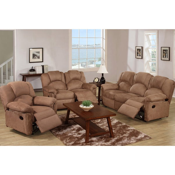 Kladno 3 piece motion recliner living room set free for Living room 3 piece sets