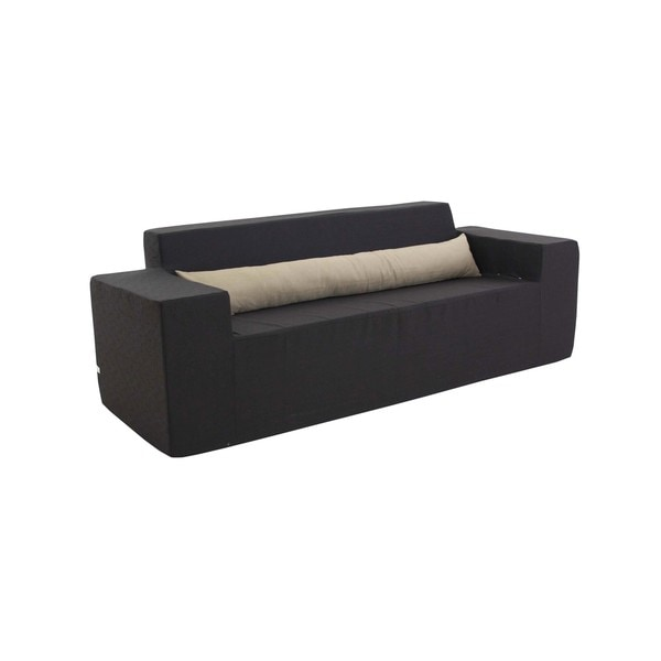 Merveilleux Softblock 82 Inch Black Foam Outdoor Sofa