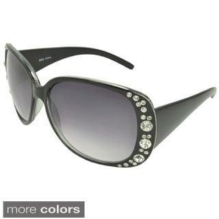 EPIC Eyewear Women's 'Carolyn' Rhinestone Accent Shield Sunglasses