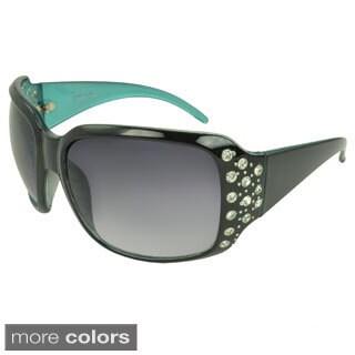 EPIC Eyewear Women's 'Linden' Rhineston-detailed Shield Sunglasses