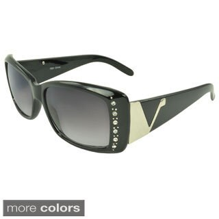 EPIC Eyewear Women's 'Kasen' Rhinestone-accent Rectangle Sunglasses