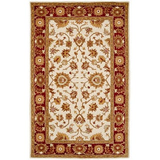 Paragon Ivory/ Red Wool Rug (5' x 8')