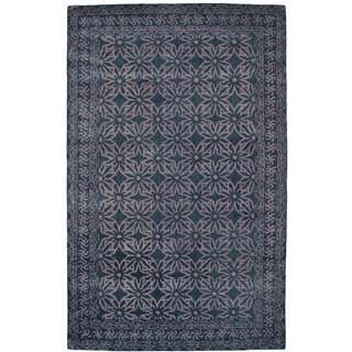 Paragon Dark Grey Wool Rug (5' x 8')