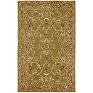Paragon Sage/ Light Green Wool Rug (2' x 4')