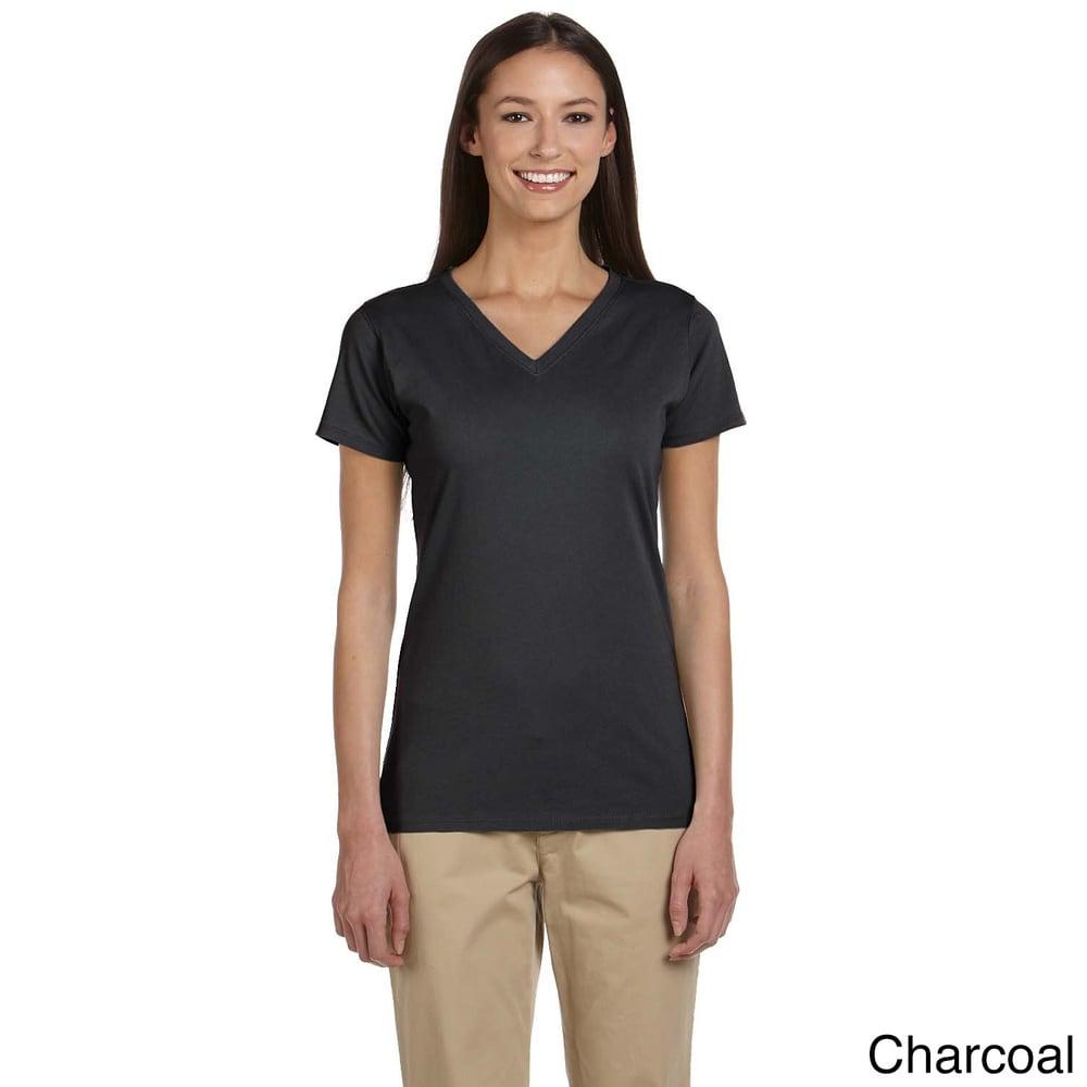 Womens Organic Cotton Short Sleeve V-neck T-shirt