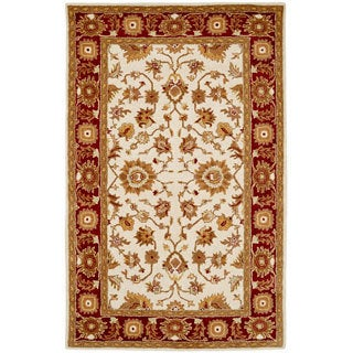 Paragon Ivory/ Red Wool Rug (2' x 4')