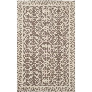Paragon Ivory/ Grey Wool Rug (2' x 4')