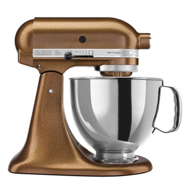 Kitchenaid rrk150qc antique copper 5 quart artisan tilt head stand mixer refurbished free - Copper pearl kitchenaid mixer ...